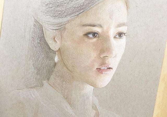 何石磊超写实人物彩铅画,《三生三世十里桃花》白凤九,附步骤图