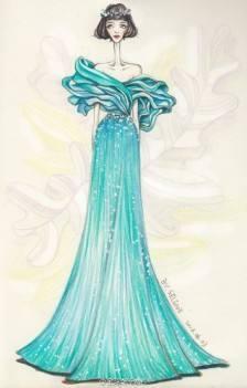 精选20张唯美婚纱设计素描手绘第三集