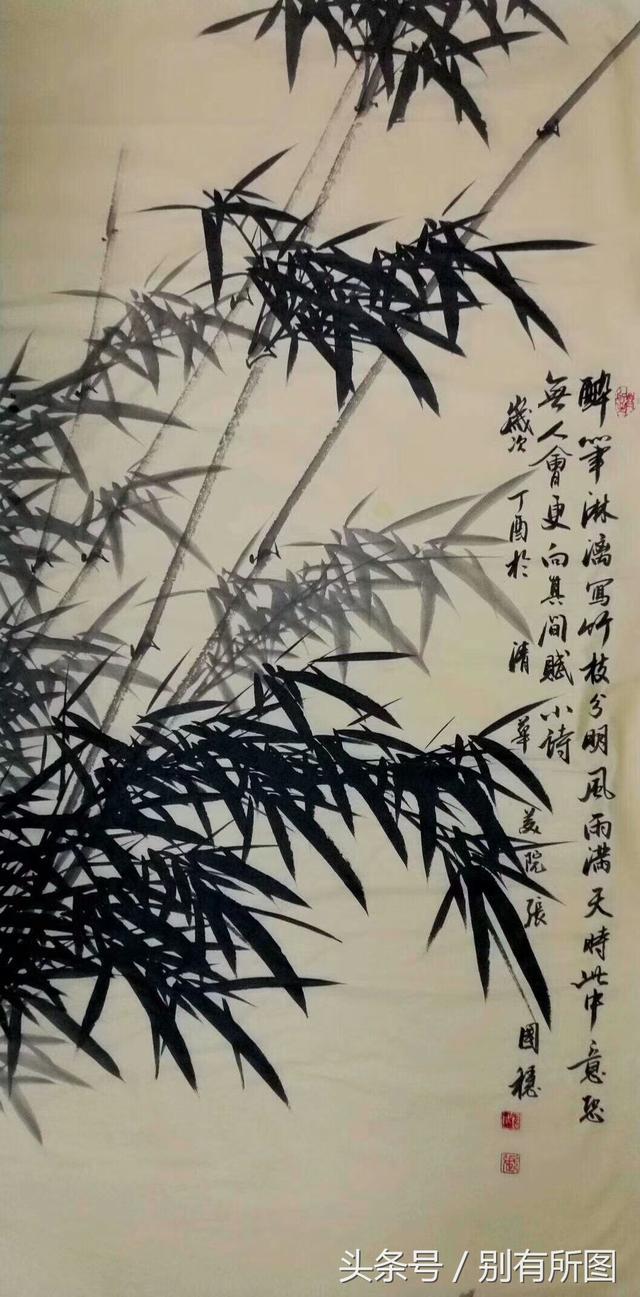 水墨竹子国画作品欣赏,欢迎收藏关注!