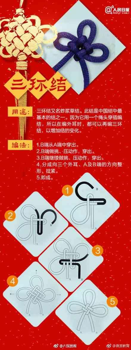 文玩手串的中国结编织方法,不需要任何工具,超简单!