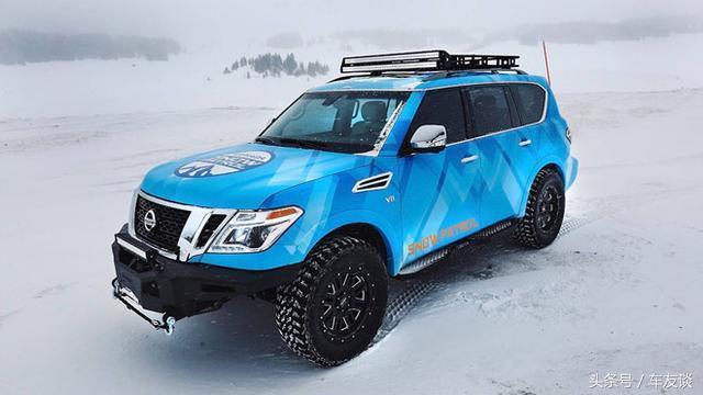 日产推雪地专用硬汉越野车,V8引擎最大牵引力3855公斤