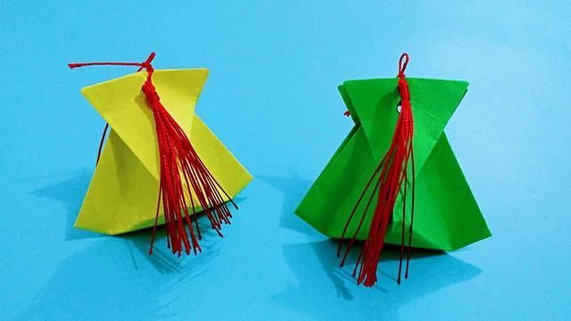 简单的迷你礼品袋手工折纸,大家看了都说漂亮,纷纷求要学