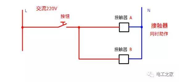 接触器自锁和互锁控制电路图