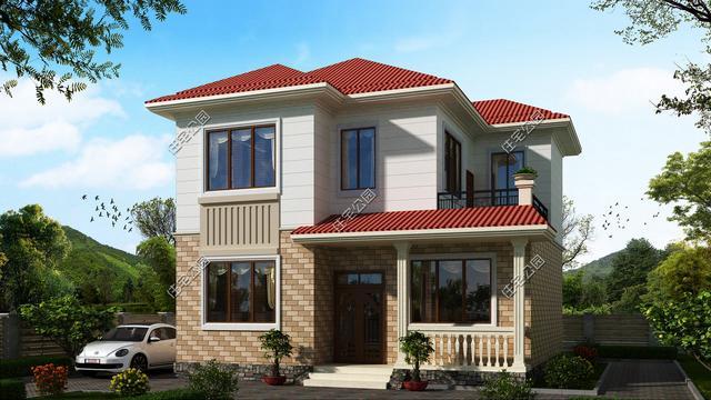 农村80平米宅基地,照样建栋小别墅,2套方案含平面图