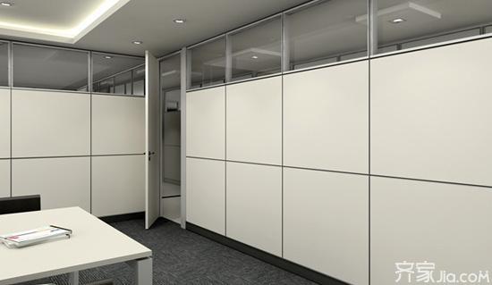 办公室隔断装修实景图