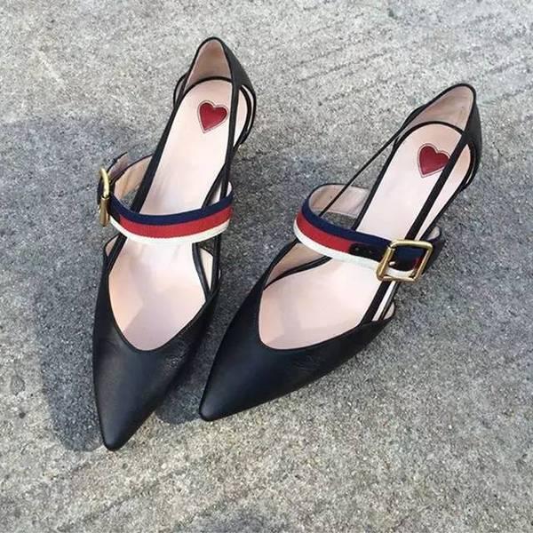 中跟软皮女单鞋图片 - 京东