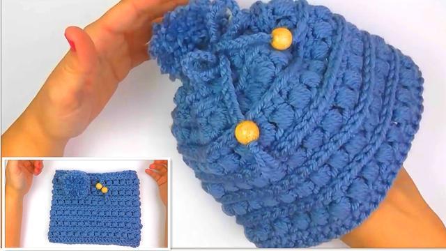 「第8集」萌系手作  韩国大粗线帽子的编织方法 毛线帽子