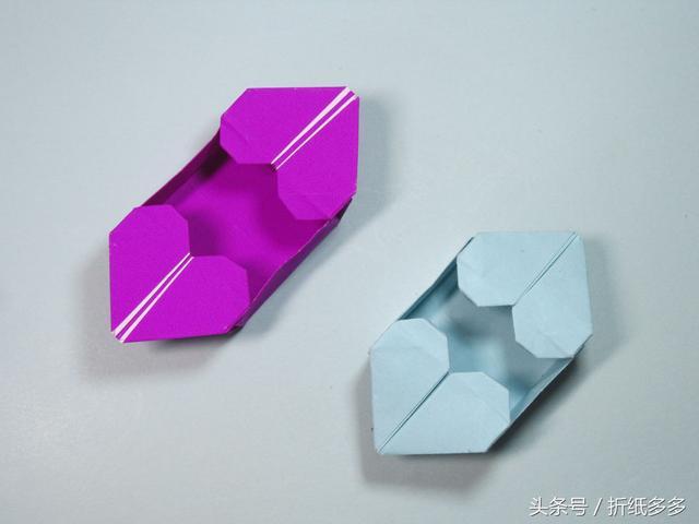 折纸盒大全之八边形手工折纸盒子图解教程 - 纸艺网手机版