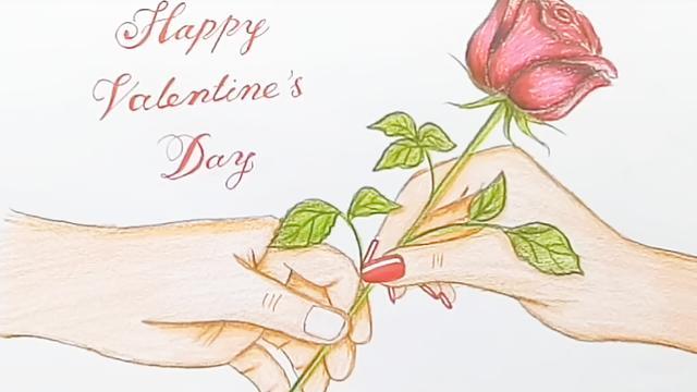简笔画卡通玫瑰花的画法步骤 - 可吉网