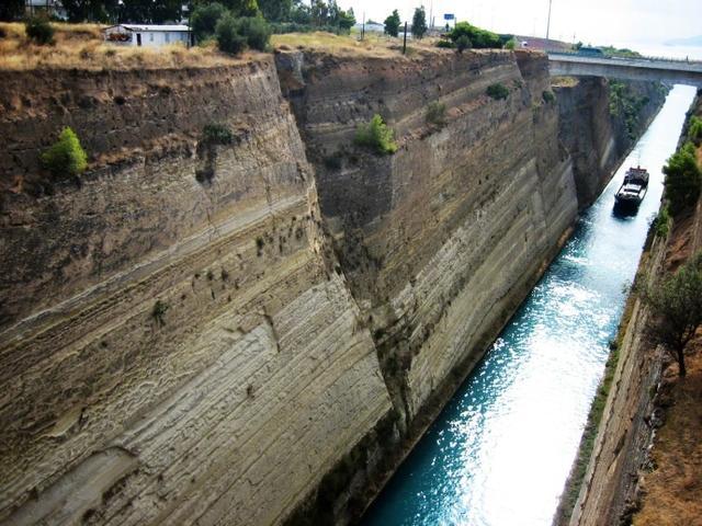 人工开凿的运河--希腊科林斯运河_雪宾尼_新浪博客