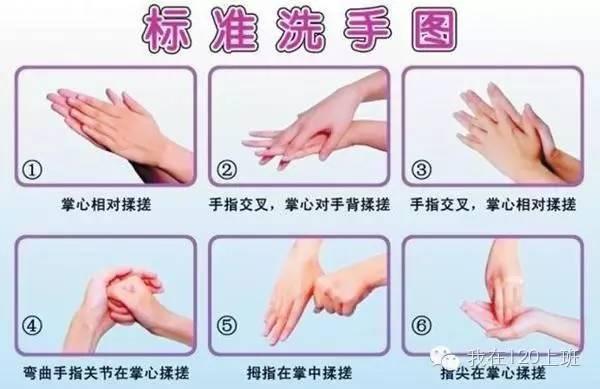 最新七步洗手法图