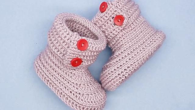 婴儿毛线鞋的织法大全
