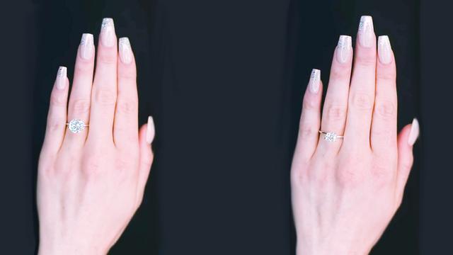 钻石戒指图片女