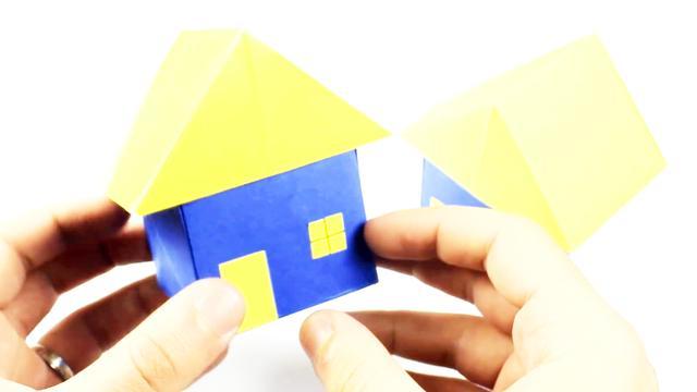 立体房子的折法原来这么简单,几分钟就能学会,折纸小房子