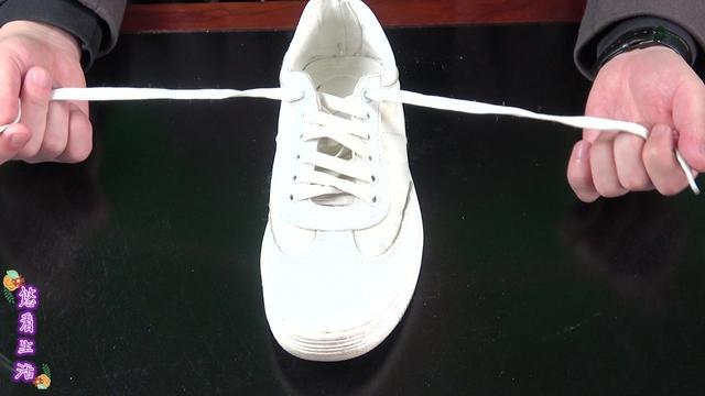 小白鞋鞋带系法隐形结