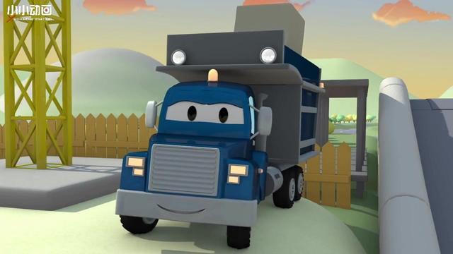 汽车城:超级卡车来帮山姆铲雪,积雪都清理干净了,道路畅通了!