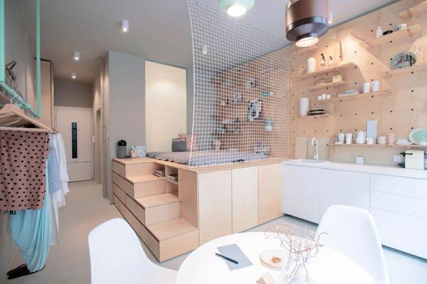 超小面积酒店式公寓设计:麻雀虽小,五脏俱全