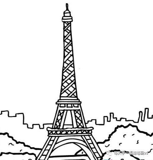 巴黎埃菲尔铁塔夜景