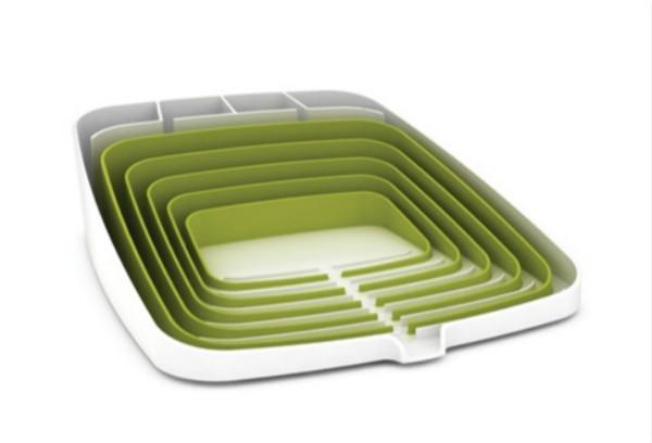 折叠沥水架,洗过的碗碟晾干一招搞定!
