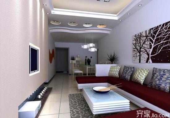 长方形卧室家具摆放图