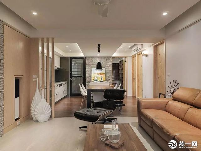 小三居装修效果图 99平米北欧简约风格装修案例赏析