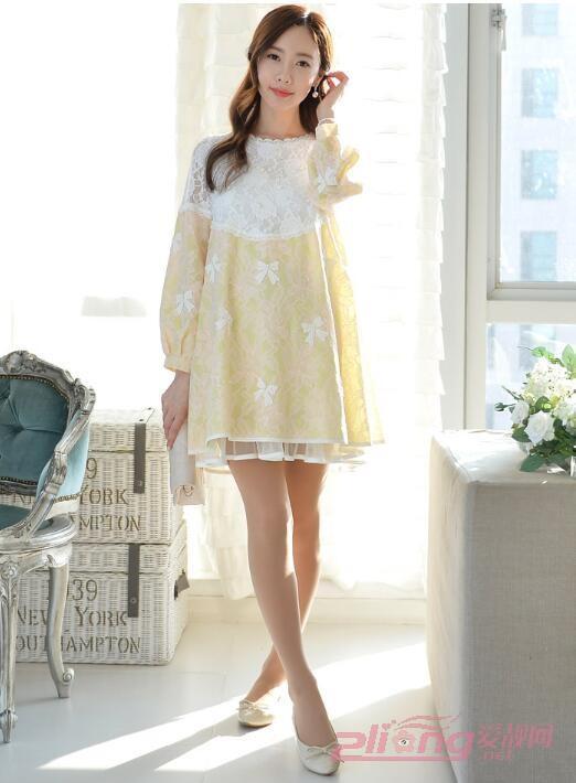 韓版孕婦寬松連衣裙