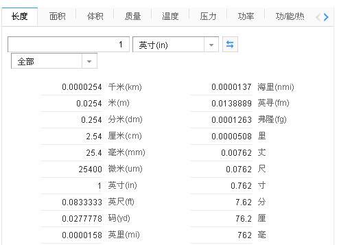 日本衣服尺码对照表