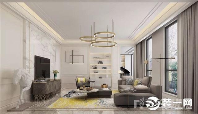 上海尚层装饰405平米装修案例 安亭瑞士花园美式住宅
