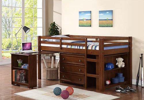 上铺床下铺书桌设计