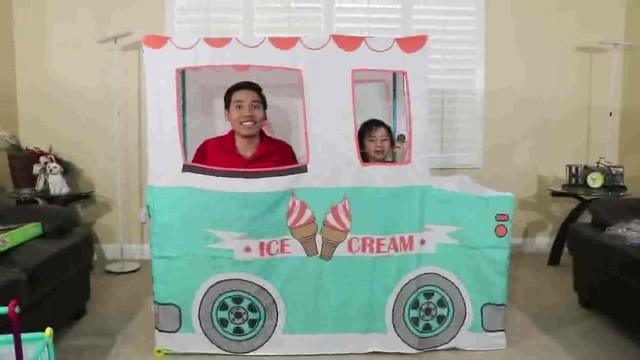 佳佳美美国外儿童节手工亲子游戏还有冰淇淋贩... _手机乐视视频