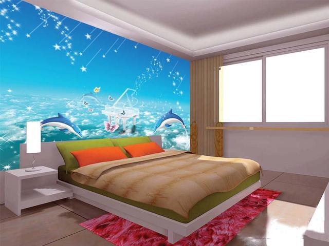 墙上画画简易图片
