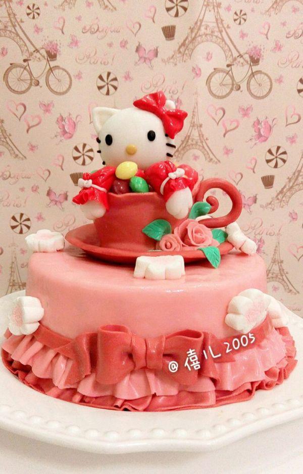 凯蒂猫生日蛋糕图片