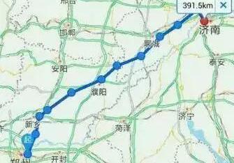 郑济高铁站点分布图