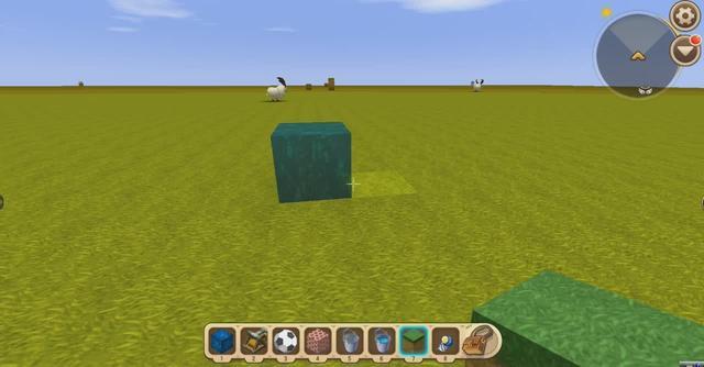 我的世界教学77    水方块可以在水方块上流