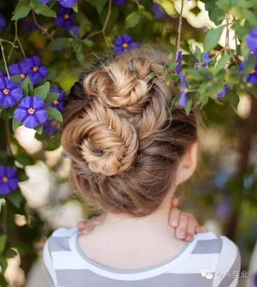 10款可爱儿童简单编发发型!