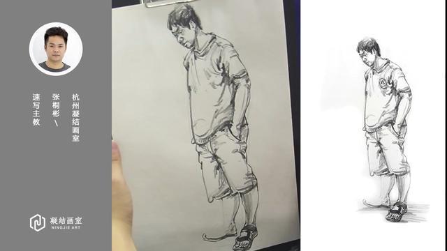 全国第一名教你怎样画人物速写(站姿男青年)...