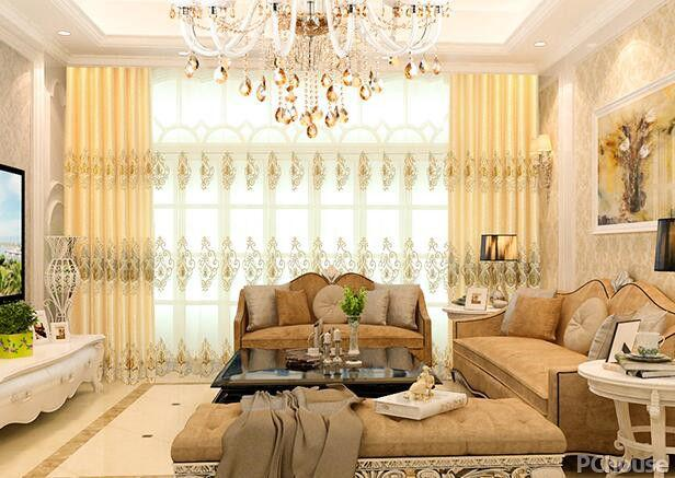 客厅欧式窗帘图片大全
