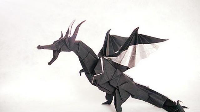 喷火飞龙的折法-折纸人 m.zhezhier.com