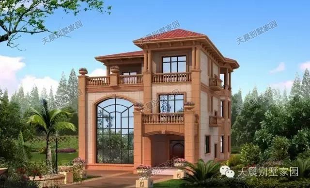 5套二层楼房设计,包括效果图和平面图,供自建房参考