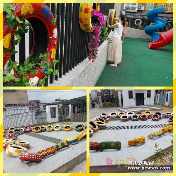 「轮胎环创」又一波幼儿园创意轮胎环创布置,太美了!