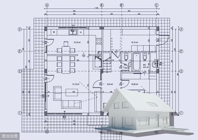 CAD建筑平面图绘图步骤详解