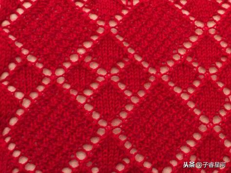 从领子往下织毛衣图解