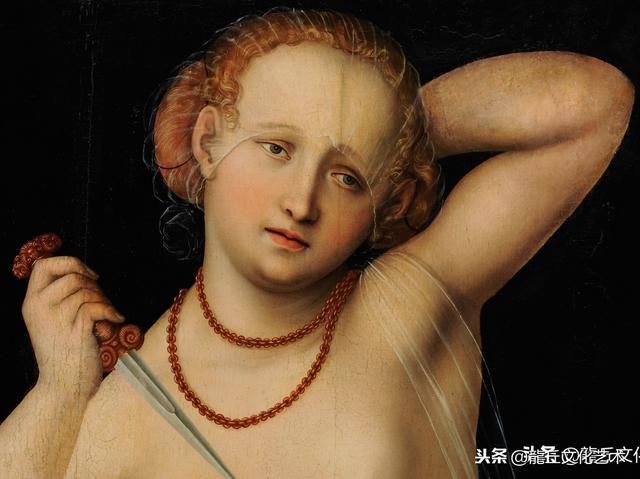 克拉纳赫板上油画《妓女和老人》赏析