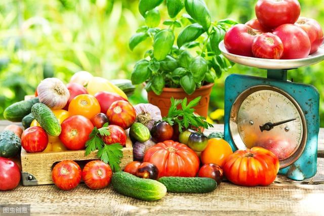 健康饮食卡通图片