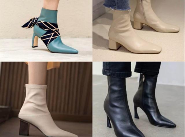 女靴子新款中筒靴图片