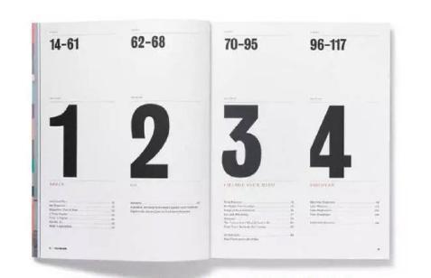 杂志目录排版设计简约