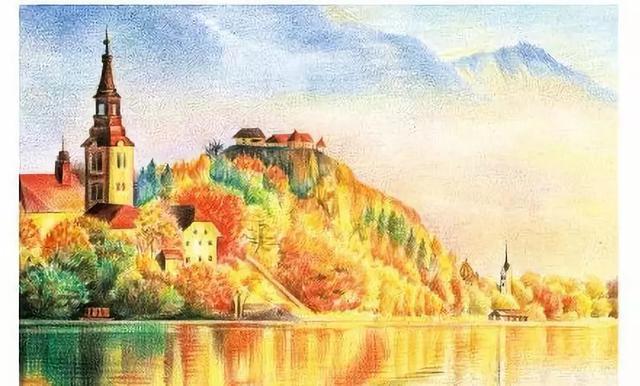 彩铅绘画作品图,写生不会先临摹(5)