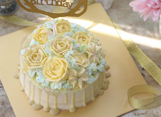 裱花生日蛋糕,無添加劑,放心吃,自己動手做起來
