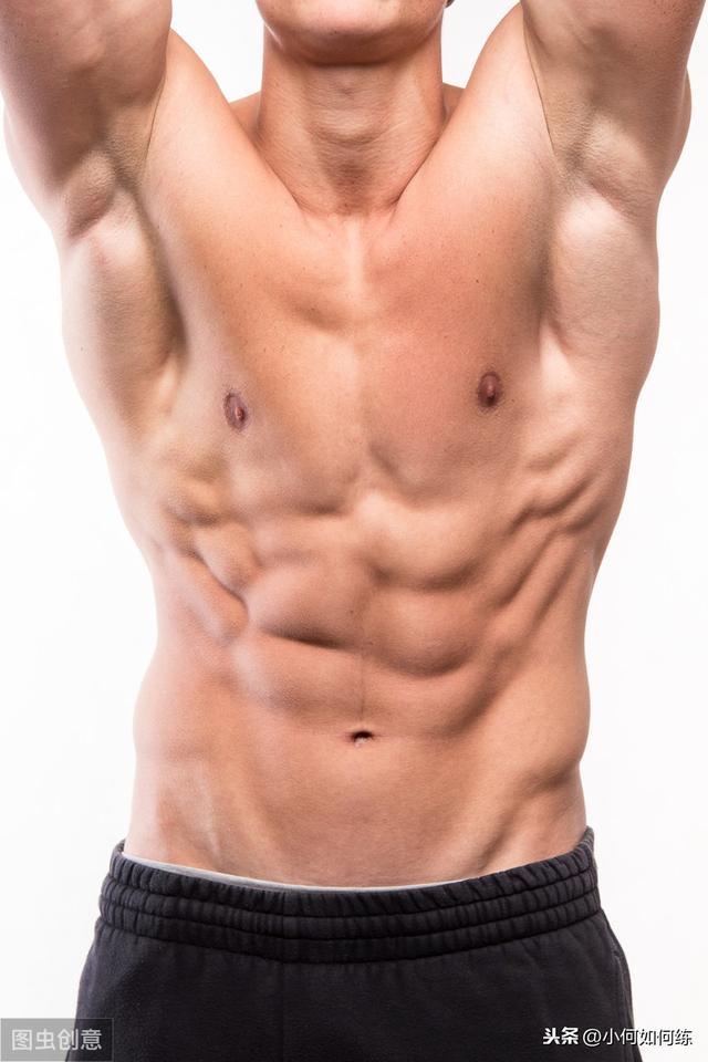 标准六块腹肌图片