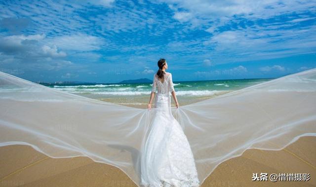 女婚纱照单人图片